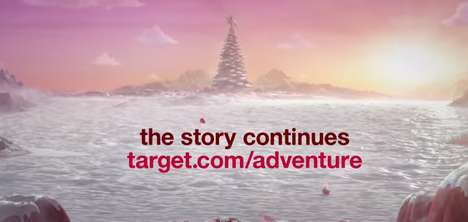 Adventurous Christmas Ads - This Target Christmas Ad Involves a Magical Tree-Lighting Story