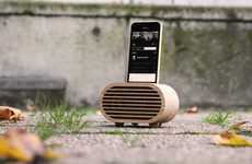 Retro Wooden Amplifiers