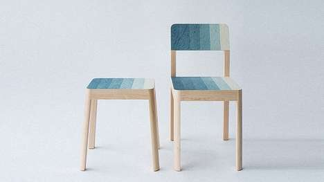 Paint Swatch Chairs - These Chairs Feature Multiple Color Shades Baked into Plywood