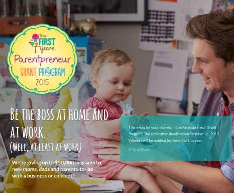 Entrepreneurial Parent Programs - First Years' 'Parentpreneur Grant' Fuses Parenting and Business