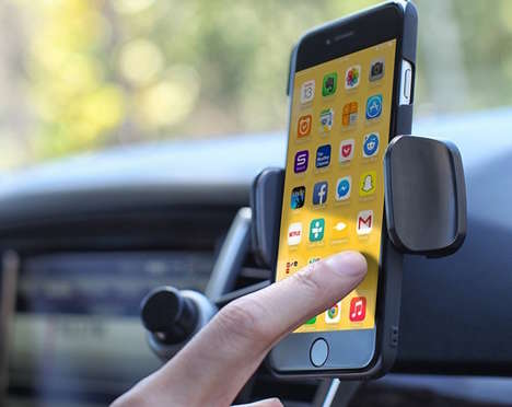 Secure Smartphone Vent Clips - The Satechi Ventie Car Vent Mount Makes Use of Wasted Dashboard Space