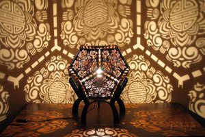 These Shadow Lamps are Stunning Sculptures by Day & Light Shows by Night