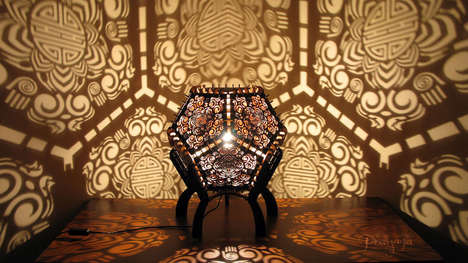 Shadow-Casting Sculptures - These Shadow Lamps are Stunning Sculptures by Day & Light Shows by Night