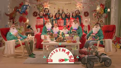 Comical Christmas Furniture Ads - The IKEA Christmas Ad Shows How to Maximize the Holiday Season