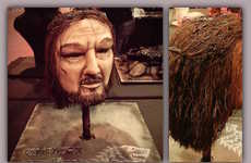 Decapitated Fantasy Character Cakes - This Eddard Stark Torte Honors the Character Losing His Head