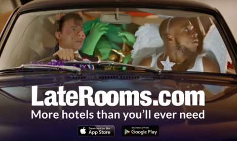 Adventure-Based Holiday Ads - LateRooms' It's Going to Be a Great Night Ad is the Brand's New Motto