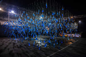 This Interactive Light Installation Has Hanging Water-Filled Condoms