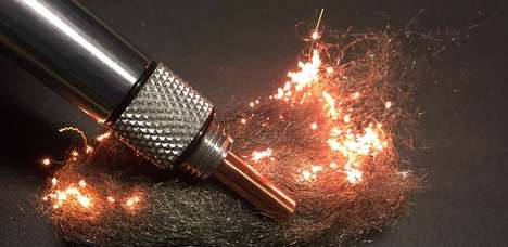 Pen-Shaped Fire Starters - This Outdoor Tool Uses Simple Battery Power to Start Steel Wool Fires