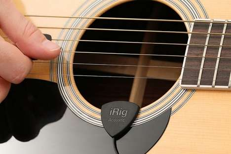 Acoustic Recording Devices - This Guitar Pickup Records Acoustic Instrument Audio onto a Tablet