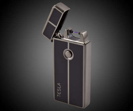 Flameless Coil Lighters - This Tesla Lighter Sets a Flame to Things Even When Its Windy or Raining