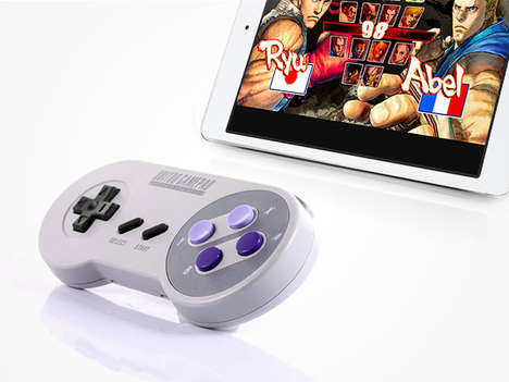 Retro Bluetooth Game Controllers - This Accessory Recreates the Look of a Super Nintendo Controller