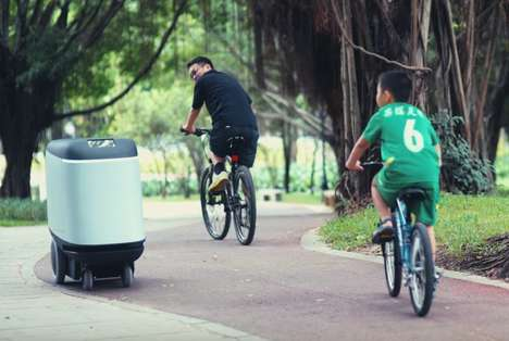 Mail Delivery Drones - The Carry is an Autonomous Sidewalk Drone That Delivers Heavy Packages