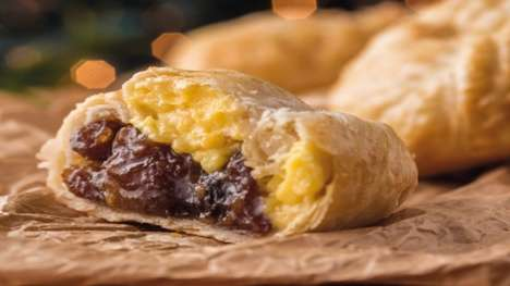 Hybrid Cornish Pasties - This Holiday Pasty is Filled With Both Mincemeat and Vanilla Custard