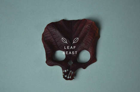 Leafy Skull Sculptures - These Decaying Leaves Have Been Redesigned to Look Like Skeletons
