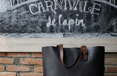 Intricately Tanned Totes - Cravar Leather Journals & Tote Bags are Crafted from Indonesian Leather