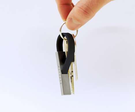 Mini Smartphone Cords - The Popcord Keychain USB Charger is Available for Apple and Android Devices