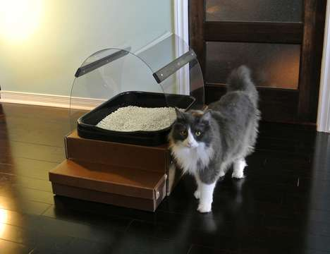 Eco-Friendly Litter Boxes - The Cat's Ask Cat Litter Box is Designed to Decrease Unnecessary Waste