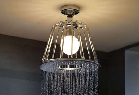 Lamp-Like Shower Heads - This Sophisticated Shower System Brings Modern Appeal to Your Bathroom