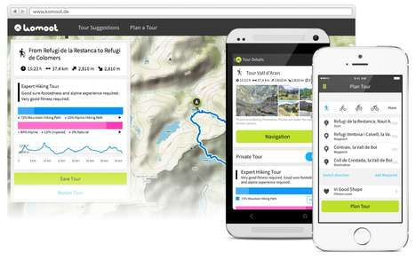 Bike Route-Mapping Apps - The 'Optimap' App Supplies Users with Crowdsourced Topographical Data