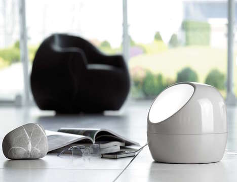 USB Port-Embedded Lamps - This Stone Lamp by Lovli Features Outlets for Charging Gadgets