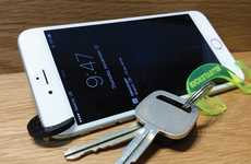 Carbon Fiber Smartphone Stands - TheMiK is a Bottle Opener Keychain with a Technological Twist