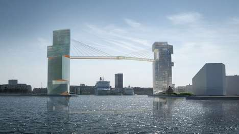 Bridge-Connected Towers - These Mixed-Use Towers Connect Two Sections Of the Copenhagen Harbor