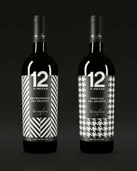 Fashionable Wine Branding - These Varvaglione Red Wine Bottles Offer a More Fashion-Forward Appeal