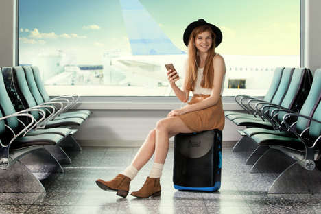 Ride-On Luggage - The Jurni Ride-On Suitcase Lets You Remain Seated When Lined Up