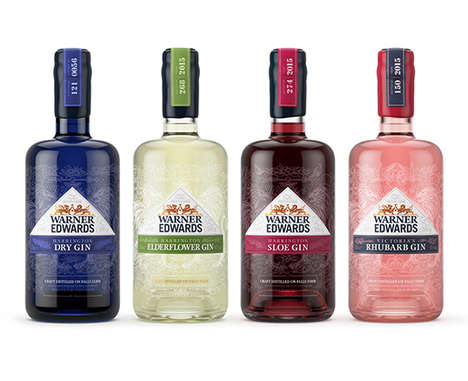 Filigree Gin Branding - Biles Inc Has Given Warner Edwards Bottles a New Sophisticated Look