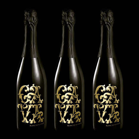 Typographic Vino Labels - The Mumm & Co. Limited-Edition Bottles Display a Type-Heavy Appeal