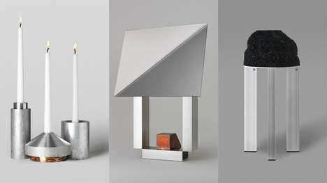 Aluminum Scrap Decor - The 'All of the Above' Line Features Sleek Items Made of Recycled Materials