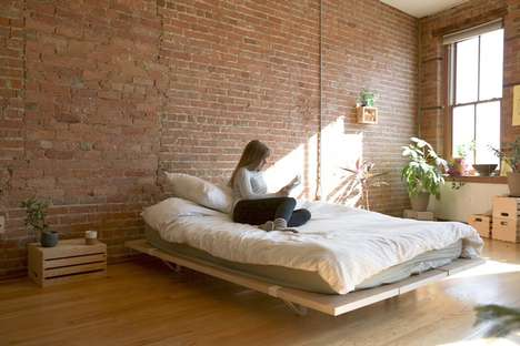 Easy-Assemble Bed Frames - The Floyd Bed Frames Are Designed For Urban Living and Moving