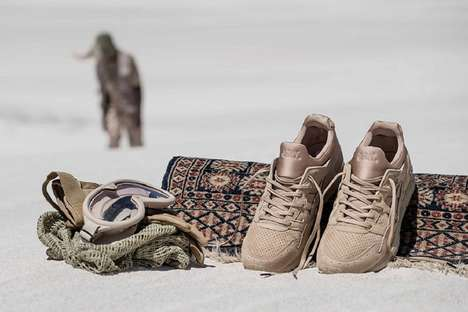 Cushioned Desert Sneakers - The ASICS Sand Layer Style Shoes Take Inspiration from Grains of Sand