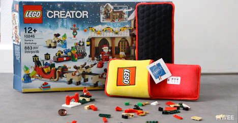 Building Block Foot Protectors - The Exclusive LEGO Slippers Provide Comfortable Building Footwear
