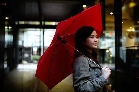 Tough Telescopic Umbrellas - The Cypress Umbrella Features an Ultra-Strength Design