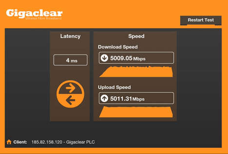 Gigabyte Internet Speeds - Gigaclear Test Drives 5Gbps Residential Internet Broadband Service
