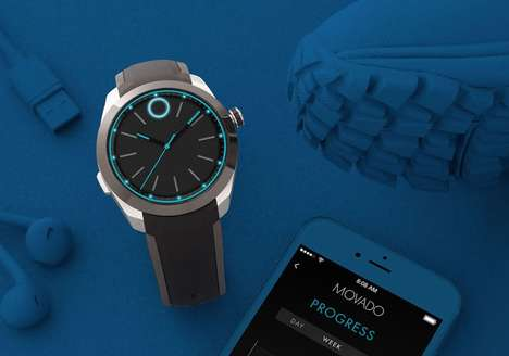 Deceptive Analog Smartwatches - The Movado BOLD Motion is a Smartwatch with an Analog Design