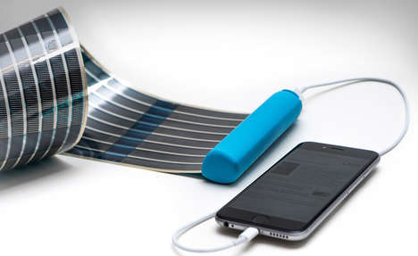 Roll-Out Solar Chargers - The HeLi-on Compact Solar Charger Features a Windup Solar Cell Mat