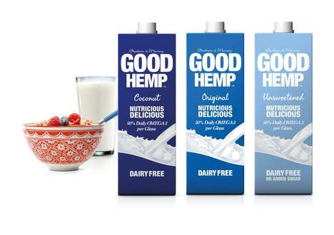 Vitamin-Packed Plant Beverages - Good Hemp Hemp Milk is Teeming with Omega 3-6 and is Vegan-Friendly
