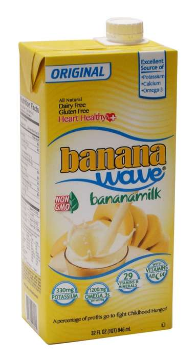 Banana Milk Beverages - Banana Wave's Banana Milk is Made a Soy, Flaxseed Oil and Vitamin Blend