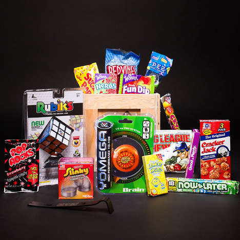 Classic Candy Delivery Boxes - The Man Crates 'Old School' Candy Crate Comes with Throwback Treats