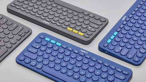 Ergonomic Circular Computer Keys - The Logitech K380 Keyboard Features a Smaller Design