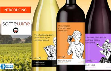 Meme-Inspired Wine Labels - These 'Somecard' Wine Labels Feature Humorous Memes Created Online