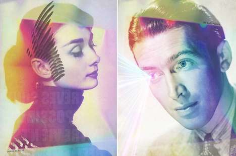 Psychedelic Celebrity Portraits - This Artist Alters Celebrity Photographs with a Bold Retro Filters