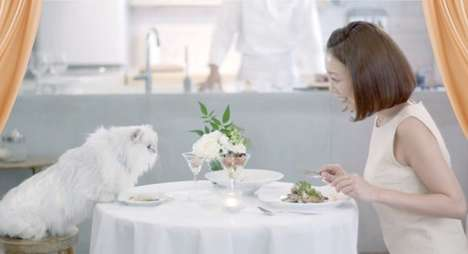 Privately Catered Cat Meals - This Nestle Japan Promotion Turns Homes into Cat Restaurants