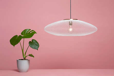 Robot-Woven Lamps - This Modern 3D-Printed Lamp is Created by a Robotic Weaver & Design Software
