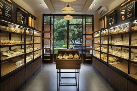 Systematic Small-Space Bakeries - This Modern Bakery in China Makes the Most of a Compact Space