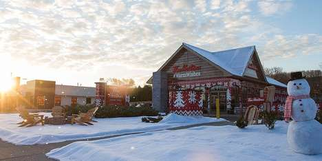 Wish-Granting Coffee Shops - This Tim Hortons Christmas Campaign Created a Snow-Covered Log Cabin