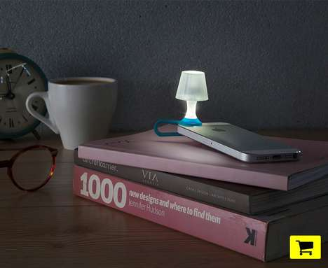 Miniature Smartphone Lamps - This Tiny Lampshade Easily Clips onto a Smartphone Light