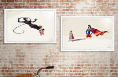 Superhero Shadow Art